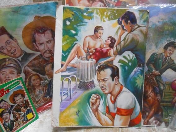 Pintura Agua Original Portada La Vida De Pedro Infante Comic