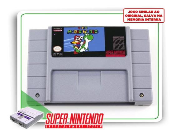 Super Mario World Super Nintendo Snes - Novo Com Save