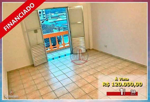Kitnet À Venda, 38 M² Por R$ 120.000,00 - Boqueirão - Praia Grande/sp - Kn0171