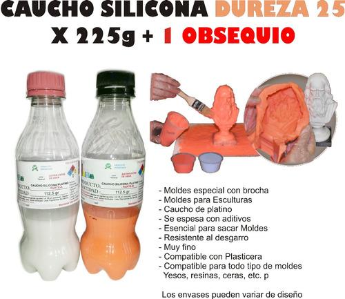 Caucho Silicona 25 Moldes En Plasticera Liquido X225gramos