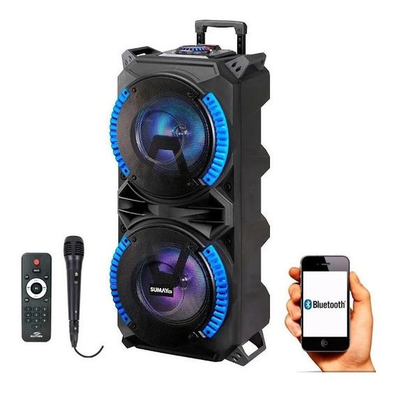 Caixa De Som Sumay Magnum 800bt Com Bluetooth