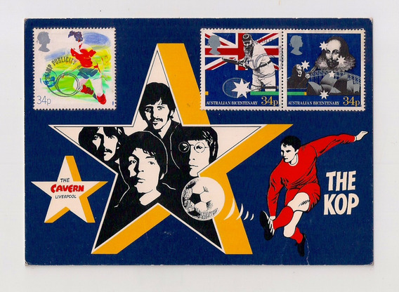 Tarjeta Postal Publicidad De The Beatles