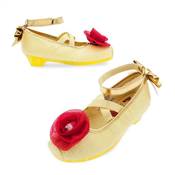 La Bella Y Bestia Zapatos Talla 9-10 Disfraz Disney Store