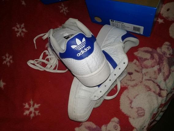Zapatillas adidas Super Star Blancas Y Azul