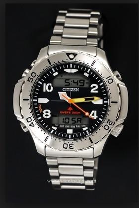 Relógio Citizen Jp3040-59e Aquamont Em Aço 100% Original Sp