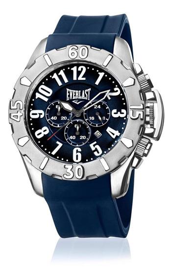 Relógio Masculino Everlast E2541 48mm Silicone Azul