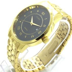 Q)relógio Cidadão Citizen Banho A Ouro Frete Grátis Promoção