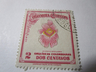 Colombia Correos Orquideas Colombianas Estampilla L5