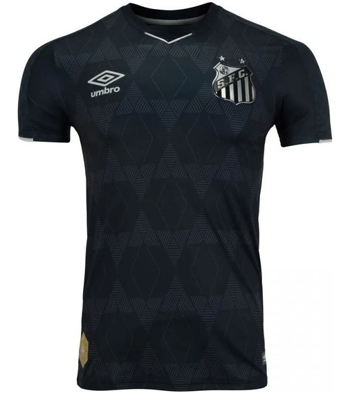 Camisa Santos Preta Iii 19/20 Oficial - Pronta Entrega