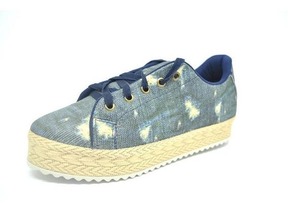 Sapatos Femininos Tenis Casual Jeans Manchado Dani K