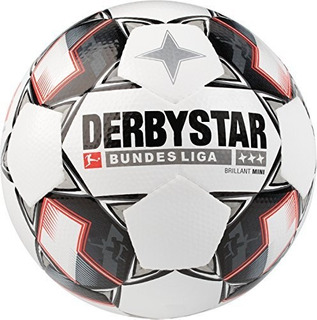 Derbystar Bundesliga Mini Balon De Futbol, Color Blanco, Tal