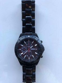 Relógio Fóssil Masculino Modelo Blue Ch2454, Pulseira Em Aco