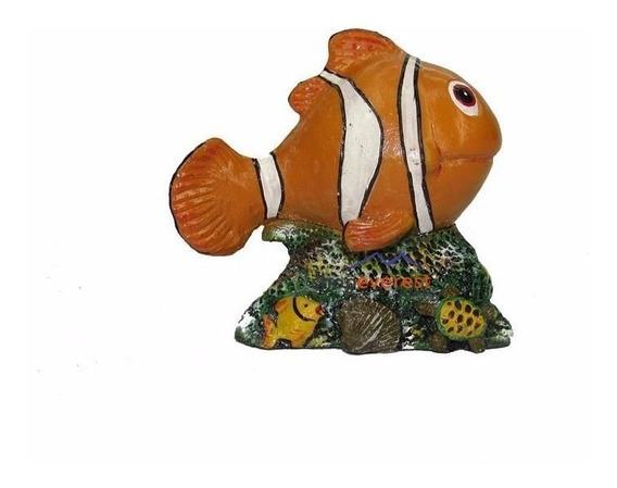 Enfeite Para Aquário Peixe Nemo - Peixe Palhaço Grande.