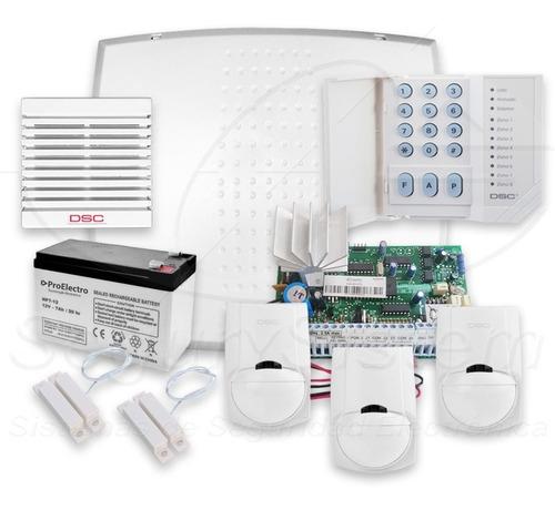 Kit De Alarma Domiciliaria Dsc Central Pc585 Sensores Sirena