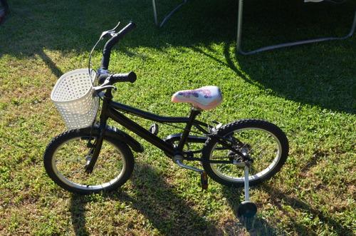 Bicicleta Con Rueditas Para Niña - Rodado 16