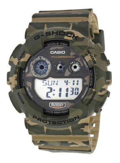 Relógio G-shock Camuflado Gd-120cm Masculino Digital Resina