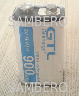 Pila Recargable 9v 900mah Extralarga Durac. Batería Cuadrada