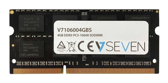 Memoria Ram 4gb V7 Ddr3 1333mhz Cl9 So Dimm Pc3-10600 1.5v (v7106004gbs)