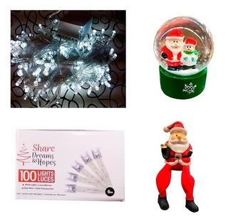 Kit De Navidad Luces Y Adornos Con Envio Gratis!