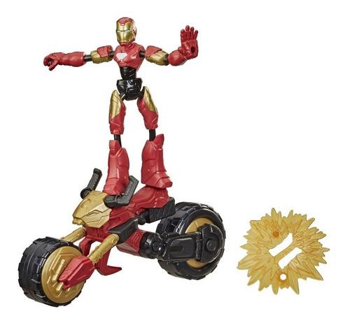 Imagem 1 de 2 de Boneco Marvel Avengers Bend And Flex Iron Man Rider Hasbro