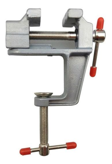 Mini Prensa De Banco Joyera Doble Tornillo Mesa Aluminio
