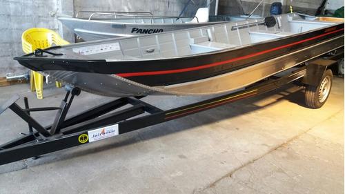 Barco De Aluminio 6m Semi Chata Com Carreta Novos