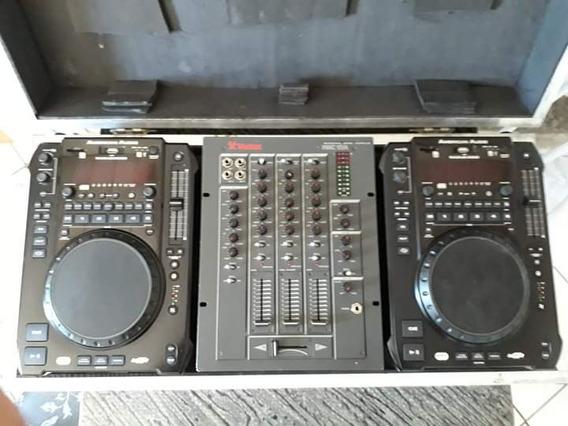 Par Cdj American Audio Radius 3000 + Mixer Vestax 03 Canais