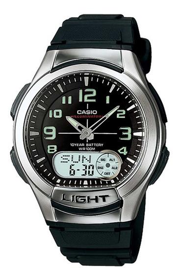 Relógio Casio Masculino Illuminator Aq-180w-1bvdf.