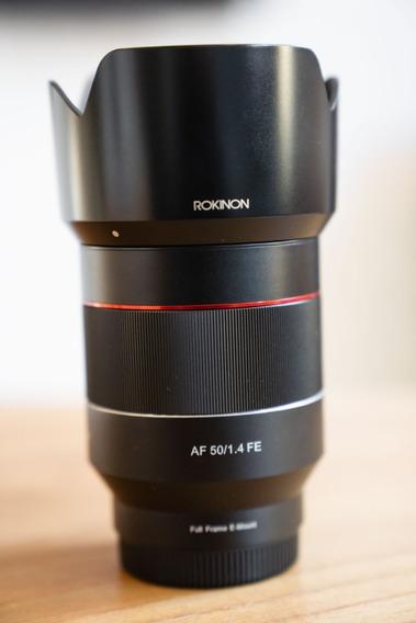 Lente Rokinon 50mm 1.4 Sony E-mount - Af