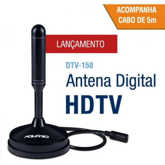 Antena Interna E Externa Para Tv Digital Aquário Dtv-100