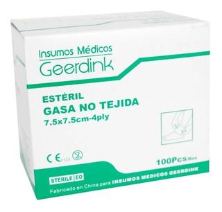 Gasa No Tejida Estéril 7.5 X 7.5 Cm, Caja X 50 Sobres X 2 Un