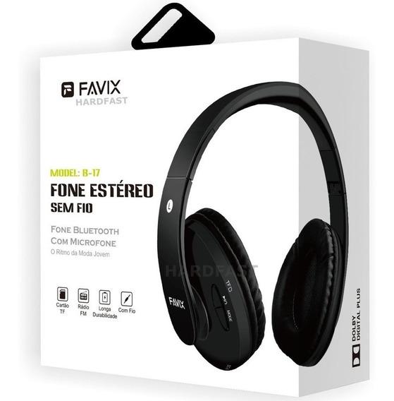 Favix B17 Fone Ouvido Sem Fio Fm Cartão Mega Bass Universal