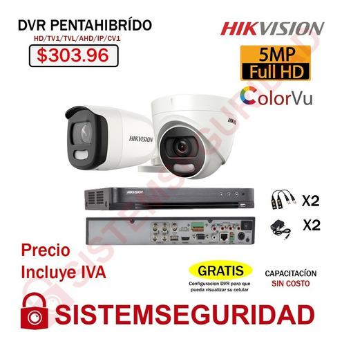 Kit 2 4 8 Camara De Seguridad 5mp Colorvu Color Vu Hikvision