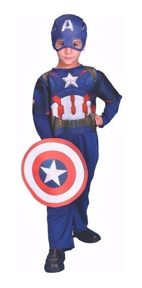 Marvel Disfraz Cap America Talle 1 Int Cad 2182 New Toys