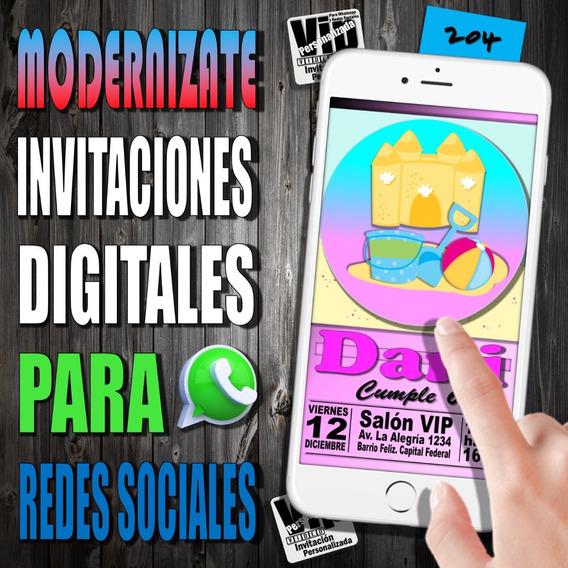 Tarjeta Digital | 204 | Cumpleaños | Playa Y Juguetes Nena