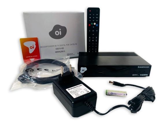 Receptor Digital Oi Tv Livre Hd Etrs40 Promoção + Lnbf Duplo