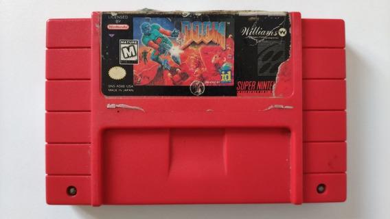 Doom Original Fita Super Nintendo Snes Cartucho Game Jogo