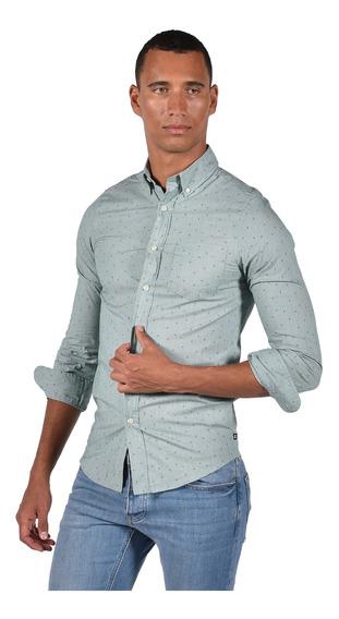 Camisa Stretch Fit Chaps Verde 750722978-33eq Hombre