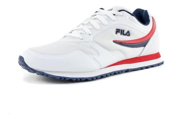 Tenis Fila Forerunner - Blanco/azul - Hombre - Cm00047125