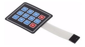 Teclado Membrana Matricial 4x3 - Arduino/pic - Frete=r$10,00