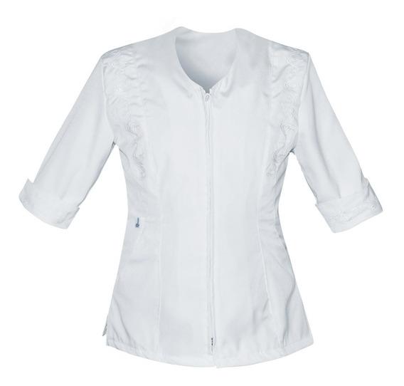 Uniforme De Enfermería Para Dama Con Cierre Y Bordado K13