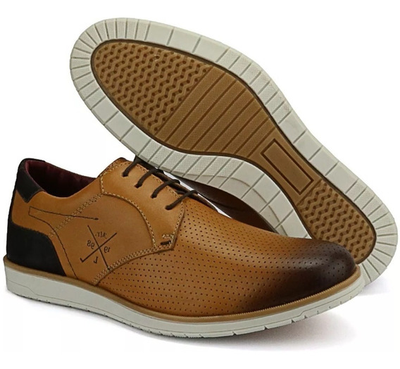 Sapato Oxford Casual Clássico Masculino Em Couro Original