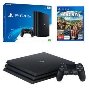 Playstation 4 Pro Sony 1tb Ps4 4k Bivolt + Jogo Gratis