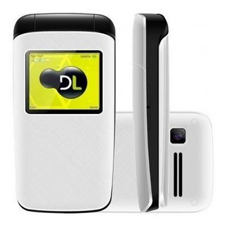 Celular Dl Yc330 Flip Dual Chip Rádio Fm Mp3 Branco Lacrado
