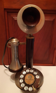 Antiguo Teléfono Candelero Original En Excelente Estado