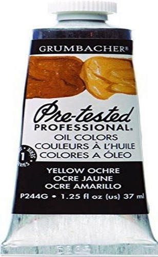Imagen 1 de 2 de Pintura Al Oleo Previamente Probada De Grumbacher, 37 Ml / 1