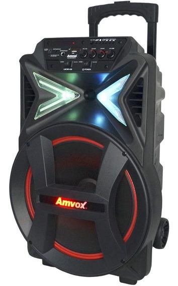 Caixa Som Amplificada Bluetooth 290w Portátil Led Tws Sub 12
