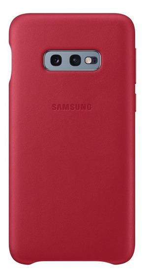 Capa Protetora Samsung Galaxy S10e Couro Vermelho