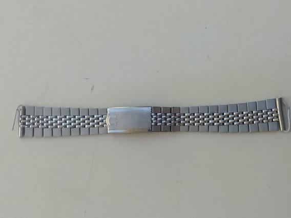 Pulseira Relógio Omega Em Aço. Antigo E Coleção.