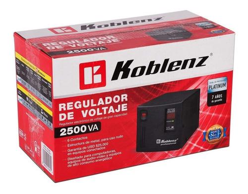 Regulador Koblenz Er-2550 2500va 6 Contactos